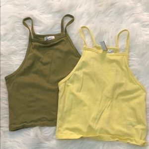 Crop top tanks